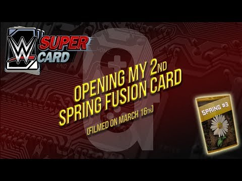 WWE Supercard - Mar 16th Opening my 2nd Spring Fusion Card 👍🏻