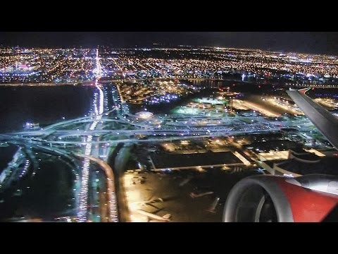 Incredible Night Takeoff Miami - Air Canada
