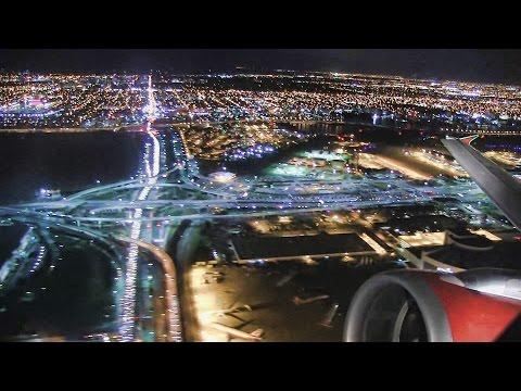 Incredible Night Takeoff Miami - Air Canada