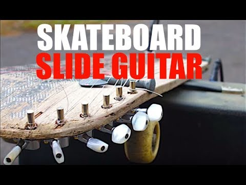 Make a Skateboard Slide Guitar with Minimal Tools!