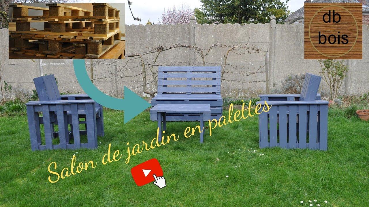 Comment fabriquer un salon de jardin en palettes #6 - YouTube