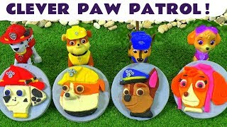 Paw Patrol Play Doh Stop Motion Badges Logos & Rescues with Surprise Eggs and Thomas The Train TT4U
