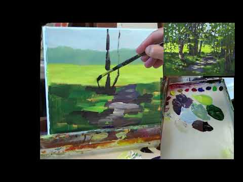 Acrylic Painting Tutorial - Path in the Park