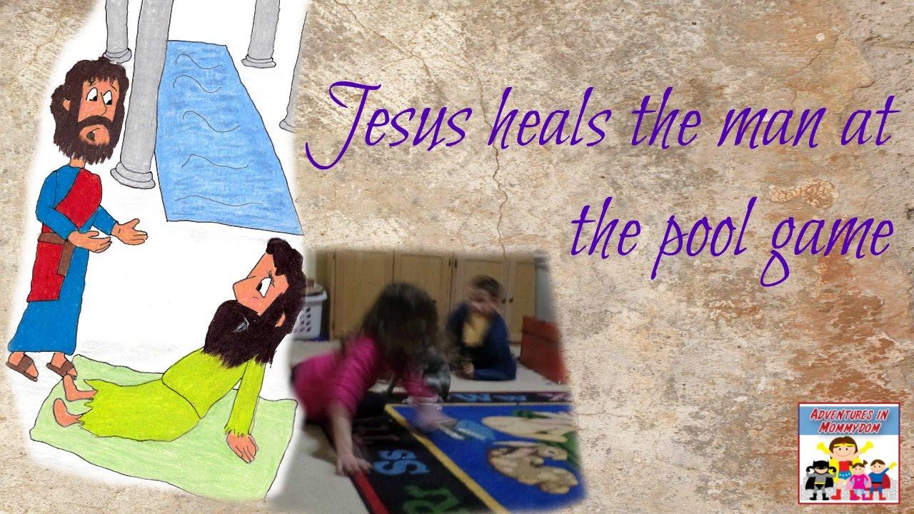 Jesus Heals The Man At Pool Race