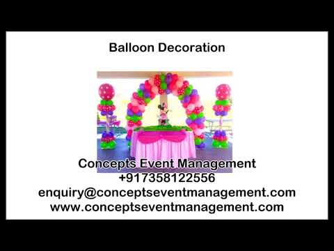 Balloon Decoration - Concepts Event Management +917358122556 Chennai
