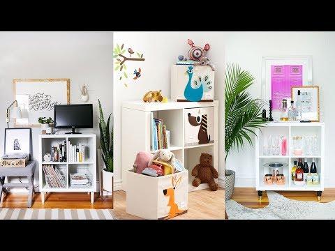 28 IKEA Kallax Shelf Décor Ideas And Hacks You\'ll Like - YouTube