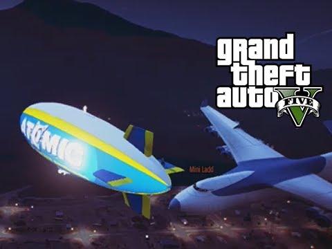 GTA 5 Online Atomic Blimp vs the Cargo...