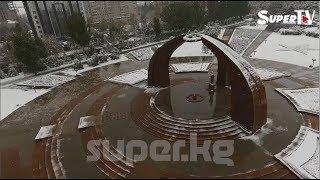 Бишкекте алгачкы кар жаады