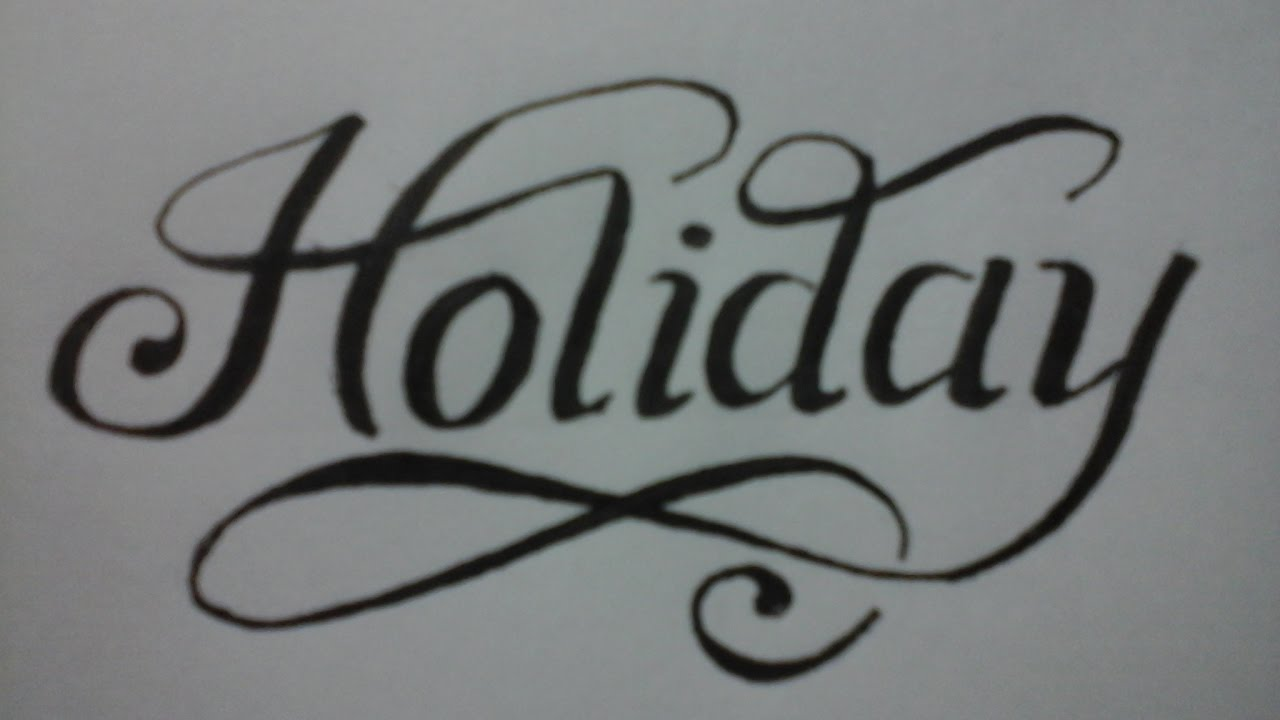 Calligraphy Writing For Beginners Styles Holiday