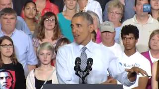 Obama slams Scott Walker with Minnesota vs Wisconsin middle class economics vs trickle down comparis