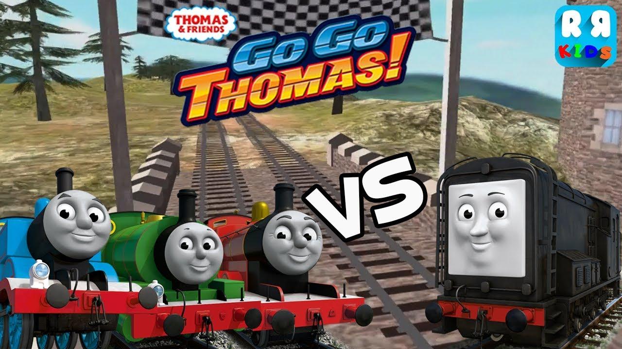 Diesel Vs Thomas Percy And James Thomas Friends Go Go Thomas Youtube