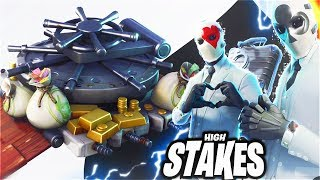 New HIGH STAKES Skins Revealed! WILDCARD + GLIDER + BACK BLING New High Stakes Update! (Fortnite)