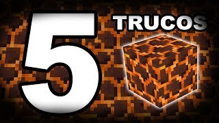 TOP 5 TRUCOS CON EL BLOQUE DE MAGMA EN MINECRAFT | PE/XBOX360/ONE/PS3/PS4/PSVITA/SWITCH/PC)