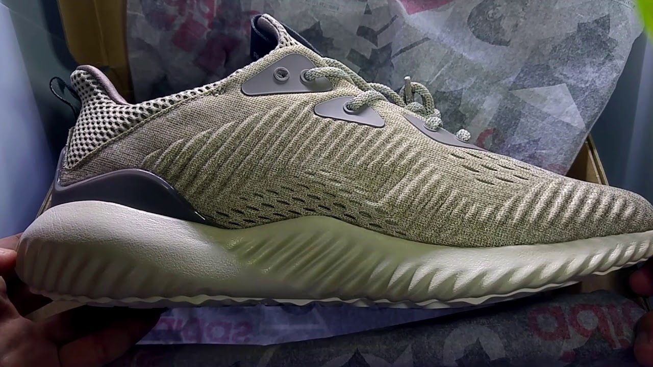 quality design e9597 f56ef Whazz in the Box! - Adidas Alphabounce EM (Tech Earth aka Oxford Tan)  Unboxing