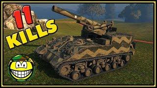 M40/M43 - 11 Kills - World of Tanks Gameplay