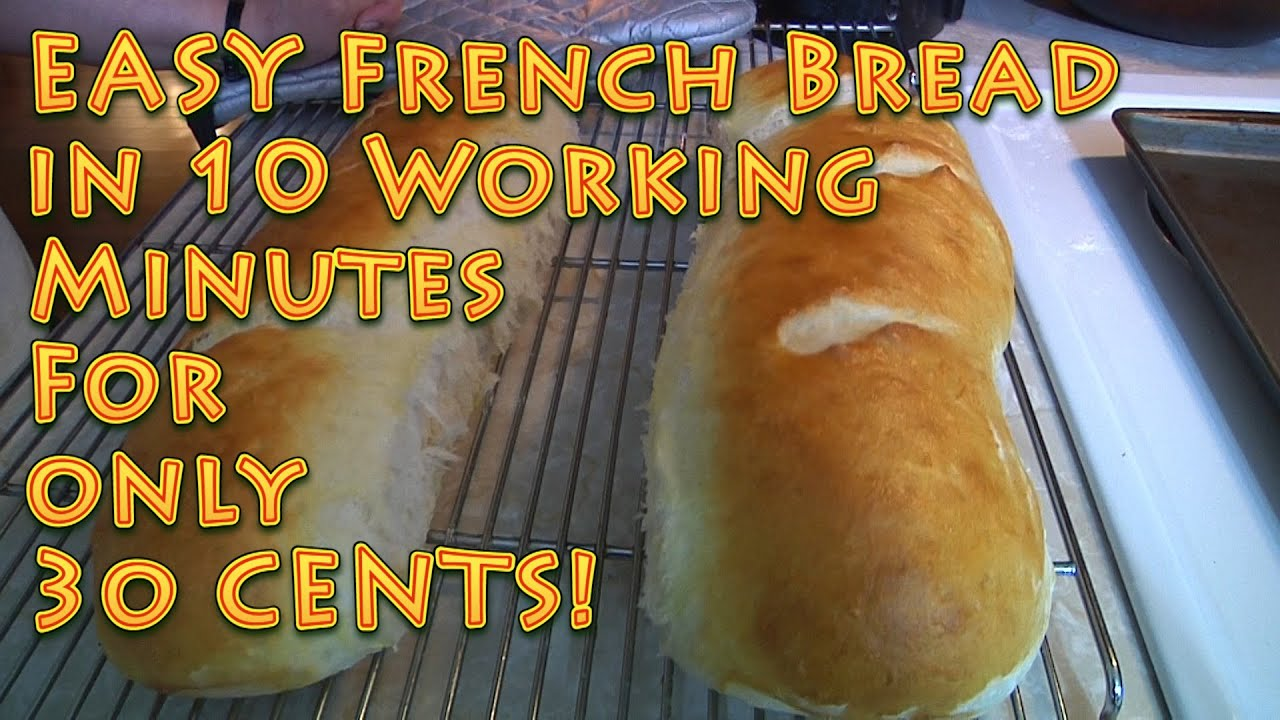 EASY French Bread under 10 MINUTES for 30 CENTS - YouTube