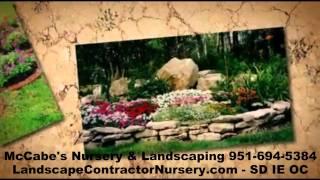 Inland Empire Landscape Contractor Nursery - McCabes Landscape Nursery - SD - OC - IE