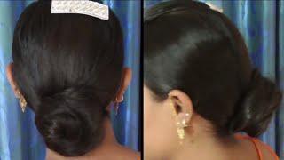 1 Minute Easy Everyday Bun Hairstyle || juda Hairstyle