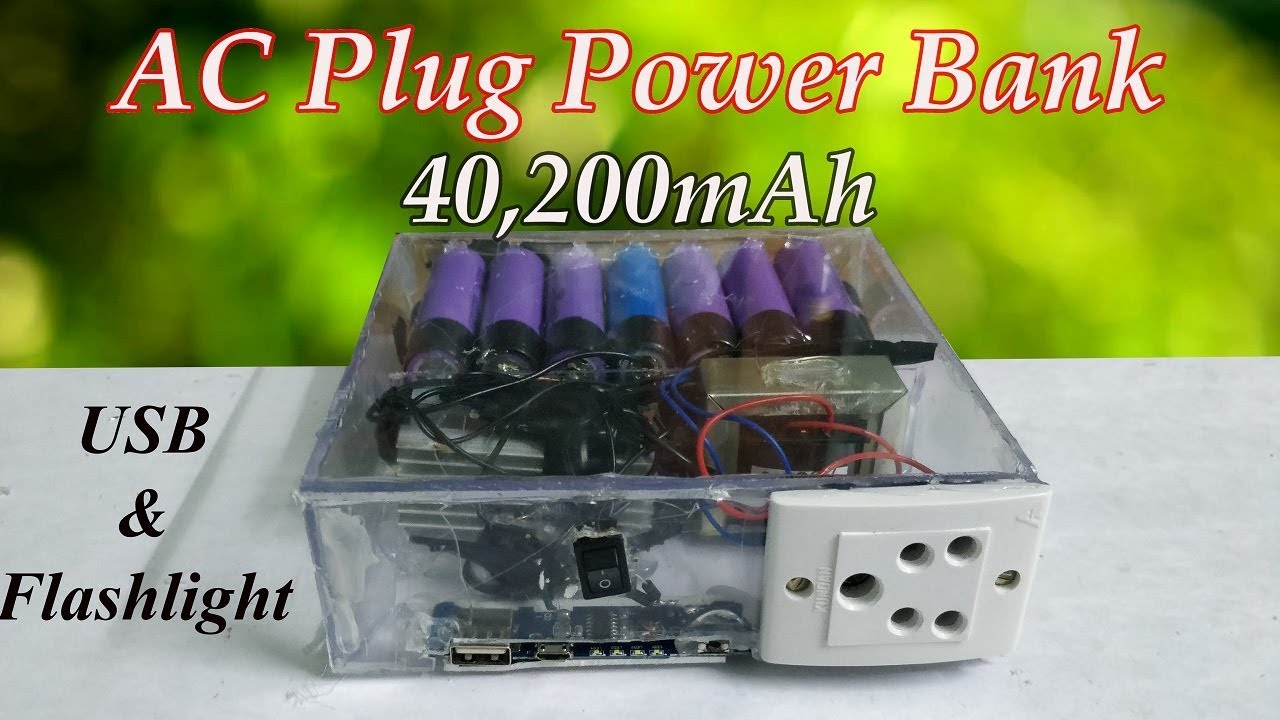 Diy Power Bank Ac How To Make 40 200mah Ac Plug Power Bank From Old Laptop Battery