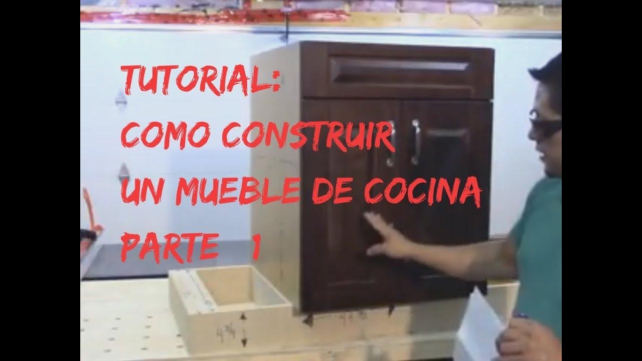Tutorial como construir muebles para cocina o bar parte for Como hacer muebles para cocina
