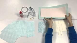 藍色優雅手工書教學 - 材料介紹