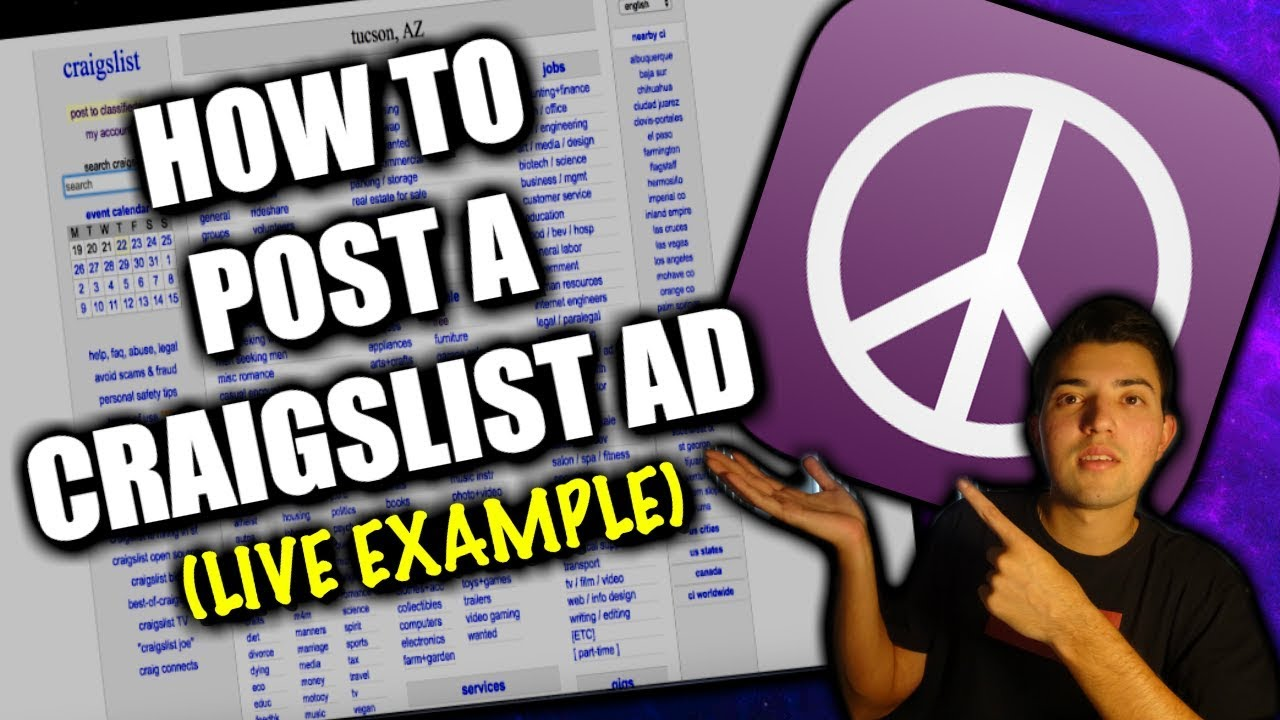 HOW TO POST AN AD ON CRAIGSLIST (TIPS AND TRICKS) - YouTube