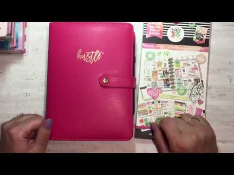 Plan With Me | Mini Happy Planner | Watercolor Sticker Book