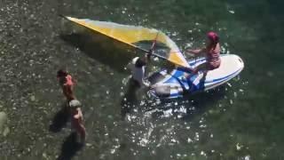Первый урок на воде. Виндсерфинг в Сочи