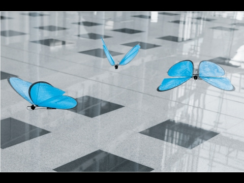FLYING ROBOTS !! Amazing flying butterflies