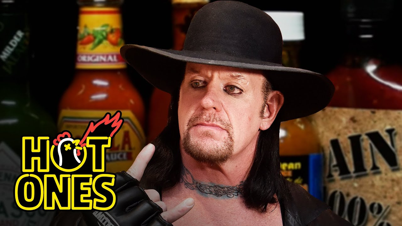 Download The Undertaker Takes Care of Business While Eating Spicy Wings | Hot Ones