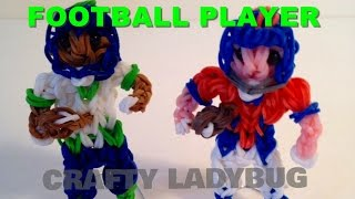 Rainbow Loom Bands Football Player Action Figure Charm How To Make Crafty Ladybug
