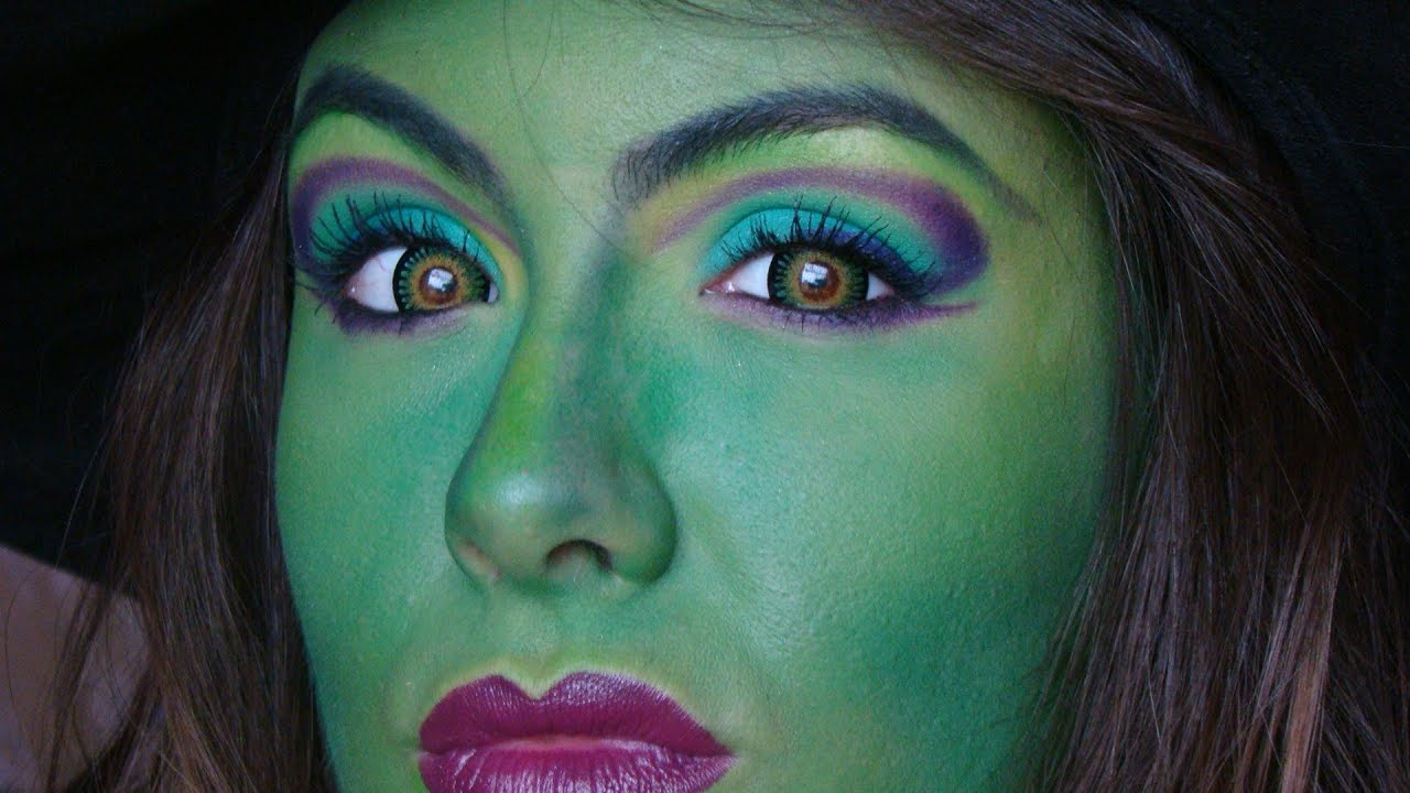 Halloween bruja el mago de oz youtube for Como pintarse de bruja guapa