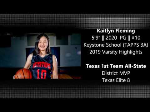 Kaitlyn Fleming 2020 PG 2018-2019 Keystone School Highlights