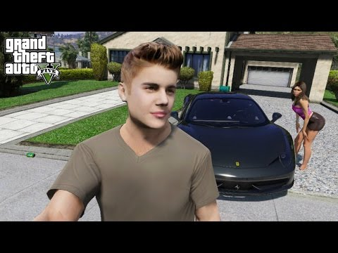 JUSTIN BIEBER PLAYS GTA 5 (GTA 5 VLOG)