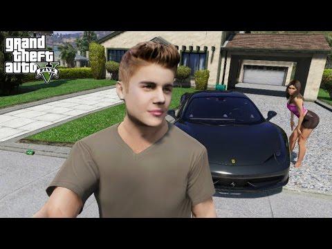 JUSTIN BIEBER PLAYS GTA 5 (GTA 5 VLOG)