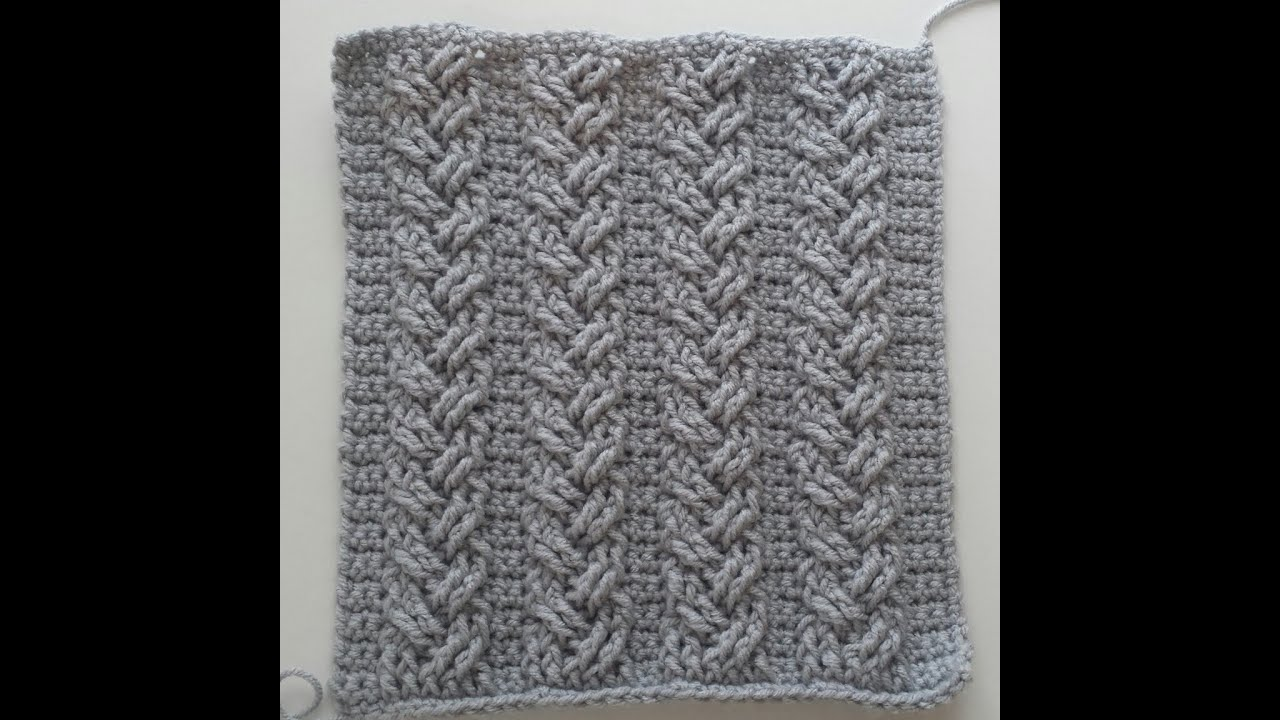 Crochet Cables Single Plaited Part Rows
