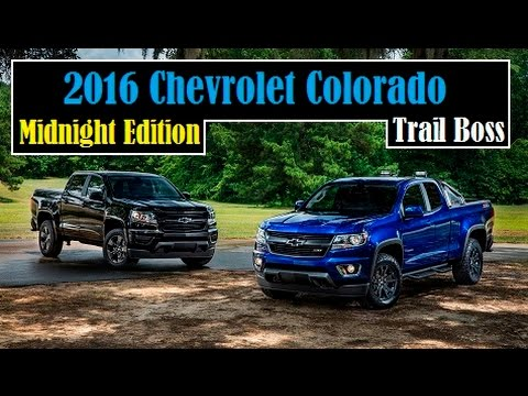 2016 chevrolet colorado special edition called the midnight edition and the trail boss youtube. Black Bedroom Furniture Sets. Home Design Ideas