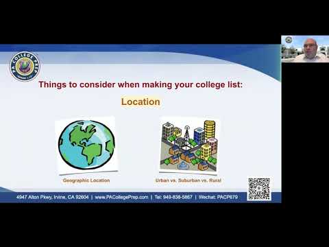06272020 PACP Webinar - How To Make Your College List