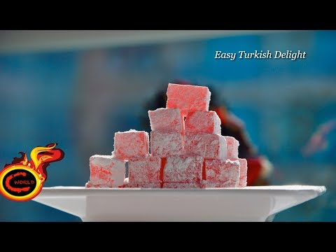 Turkish delight-Easy Version -Valentines Day Special ||Easy Jelly Candy|Ep:302