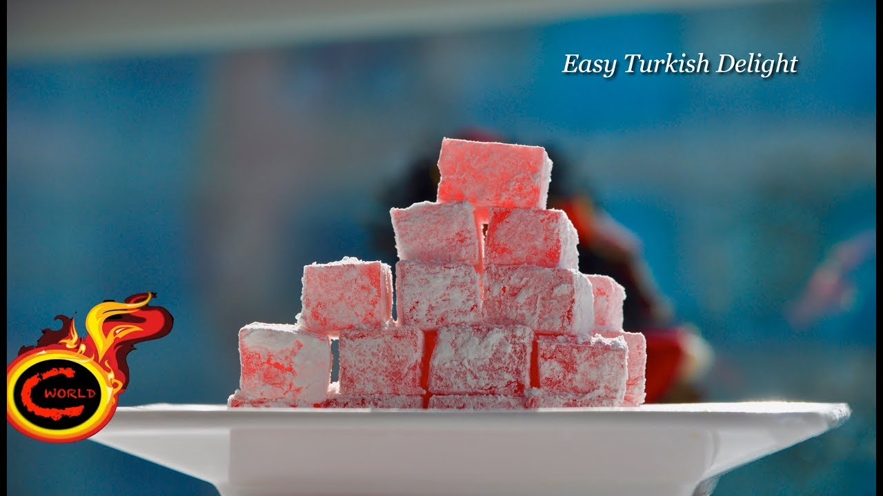 Turkish delight-Easy Version -Valentines Day Special ||Easy Jelly ...