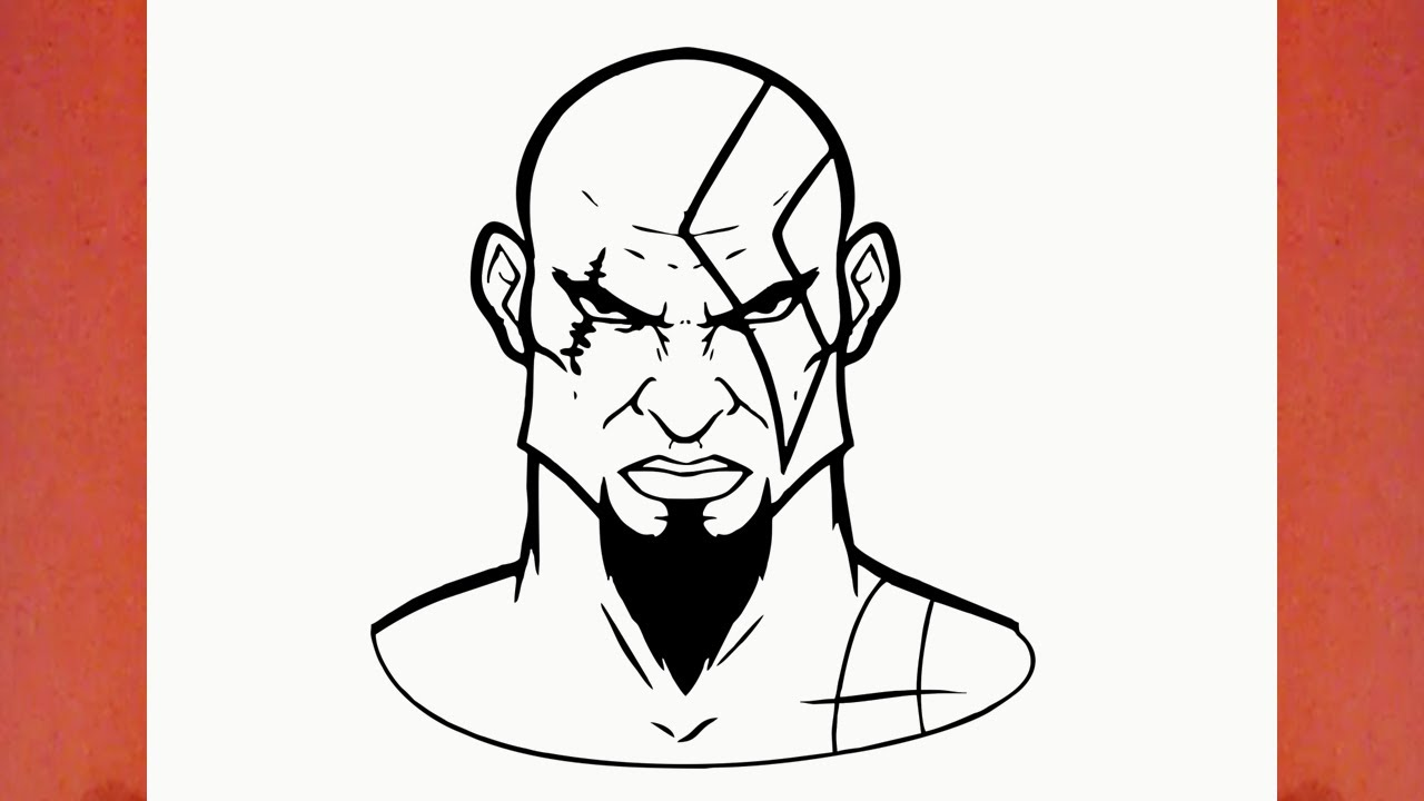 How To Draw Kratos From God Of War Game