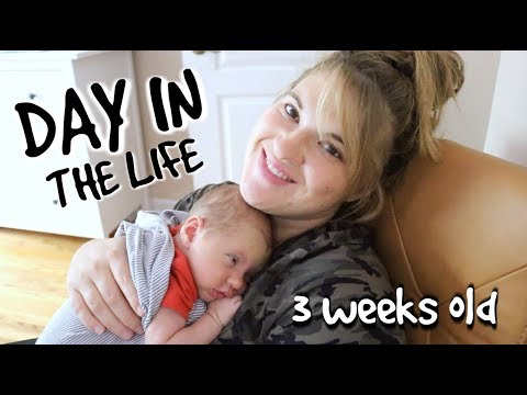 DAY IN THE LIFE WITH A NEWBORN | 3 weeks old