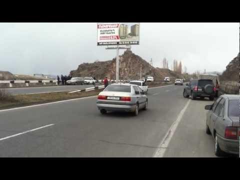 ДТП на трассе Ереван-Севан 16.02.2013. - 2