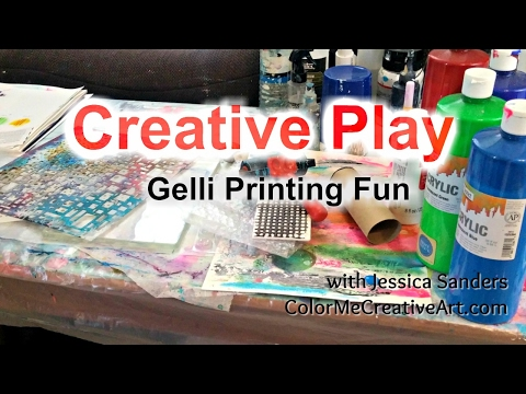 Gelli Printing - Creative Play Session
