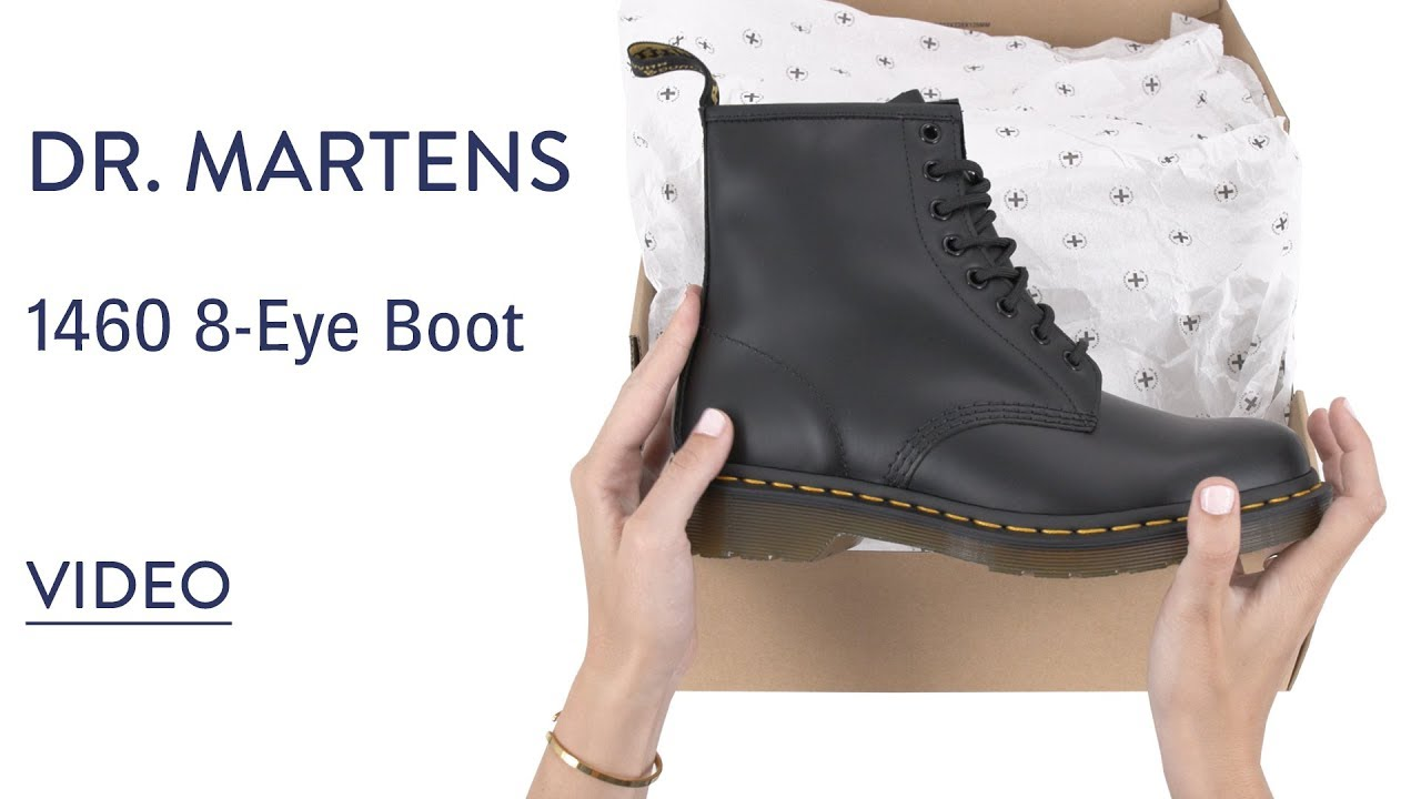 602f8d6a876bd Dr. Martens 1460 8-Eye Boot   Shoes.com - YouTube