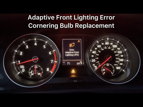 Adaptive Front Lighting System Error (AFS) - VW Golf GTI Mk7 - Cornering Bulb Replacement