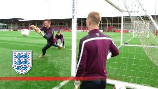 Up Close & Personal With England's Goalkeepers | Inside Training