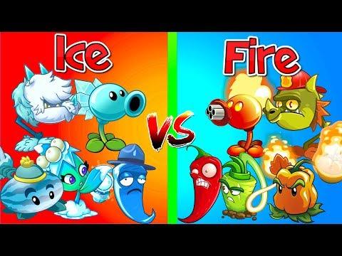 Plants vs Zombies 2 Mod FIRE vs ICE 2 Plants in Primal The Best Plants PVZ 2 Gameplay