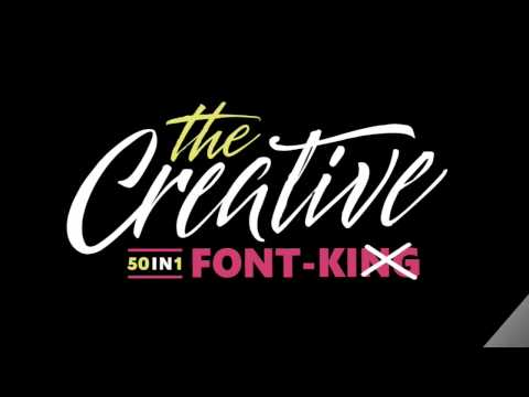 The Creative Font - ON SALE NOW!