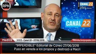 *IMPERDIBLE* Editorial de Cúneo 27/06/2018